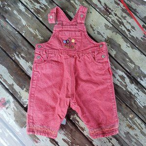 Carters Baby size 3-6 Month Red overalls Vintage